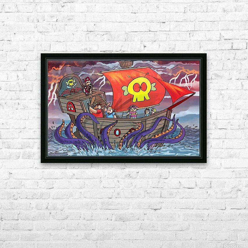 Sea Monster HD Sublimation Metal print with Decorating Float Frame (BOX)