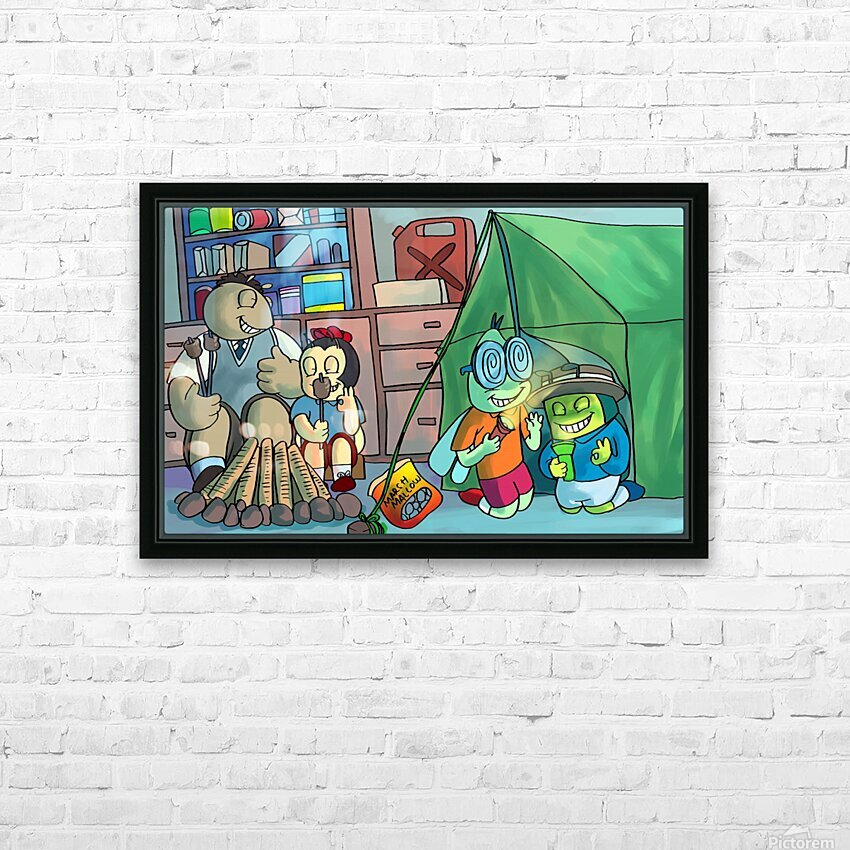 Blanket Fort - Bugville Critters HD Sublimation Metal print with Decorating Float Frame (BOX)