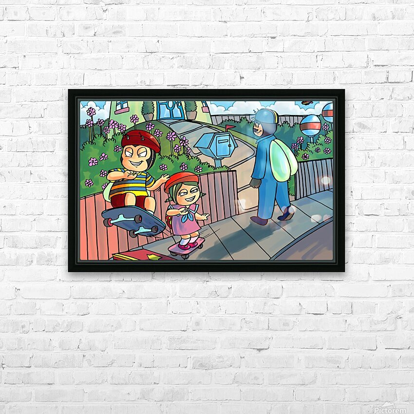 Pizza Party HD Sublimation Metal print with Decorating Float Frame (BOX)