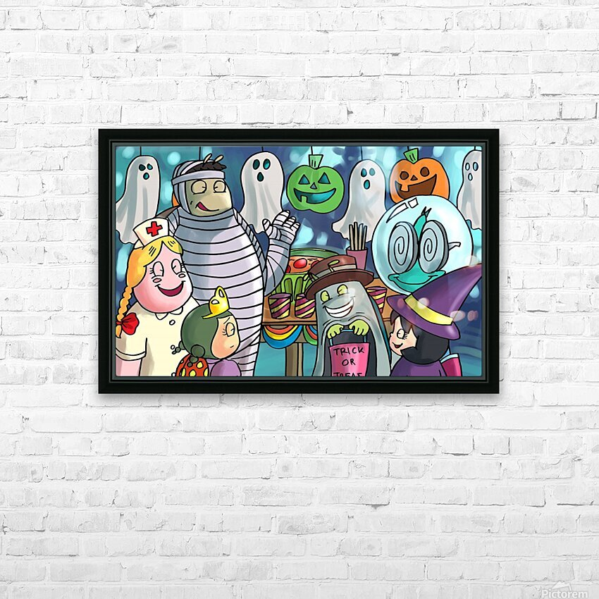 Halloween Party HD Sublimation Metal print with Decorating Float Frame (BOX)