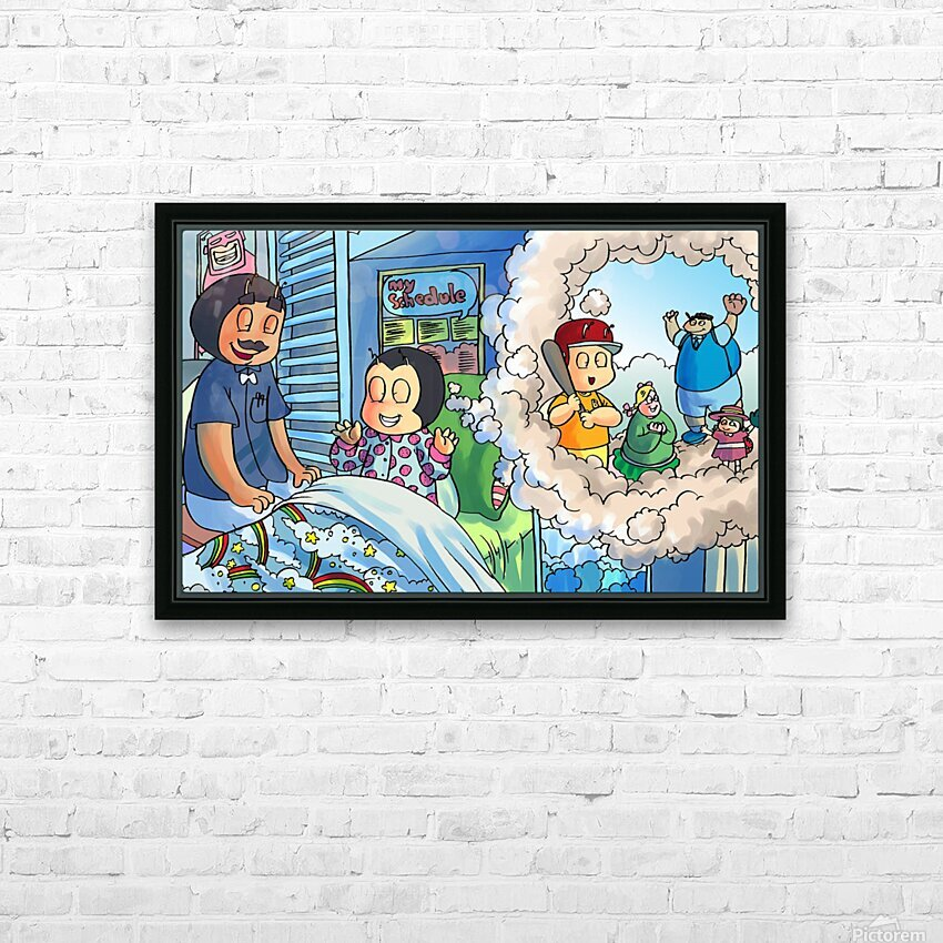 Baseball dreams - Bugville Critters HD Sublimation Metal print with Decorating Float Frame (BOX)