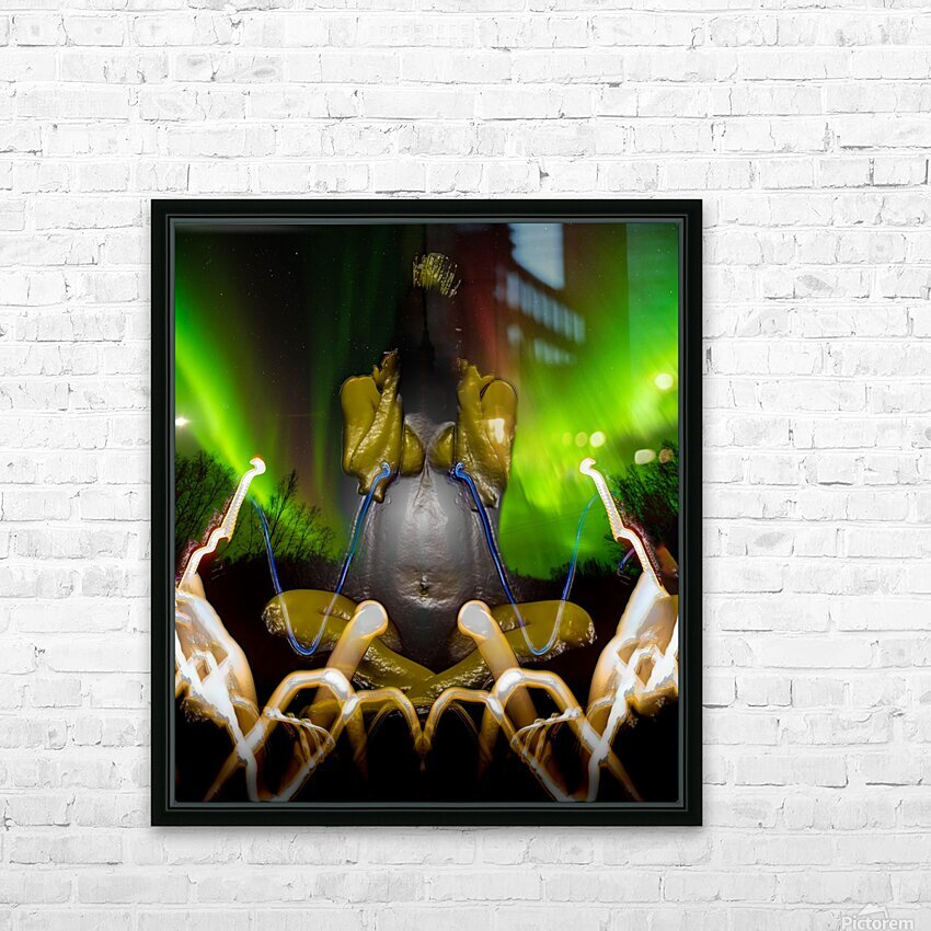 AURORA LANDING HD Sublimation Metal print with Decorating Float Frame (BOX)