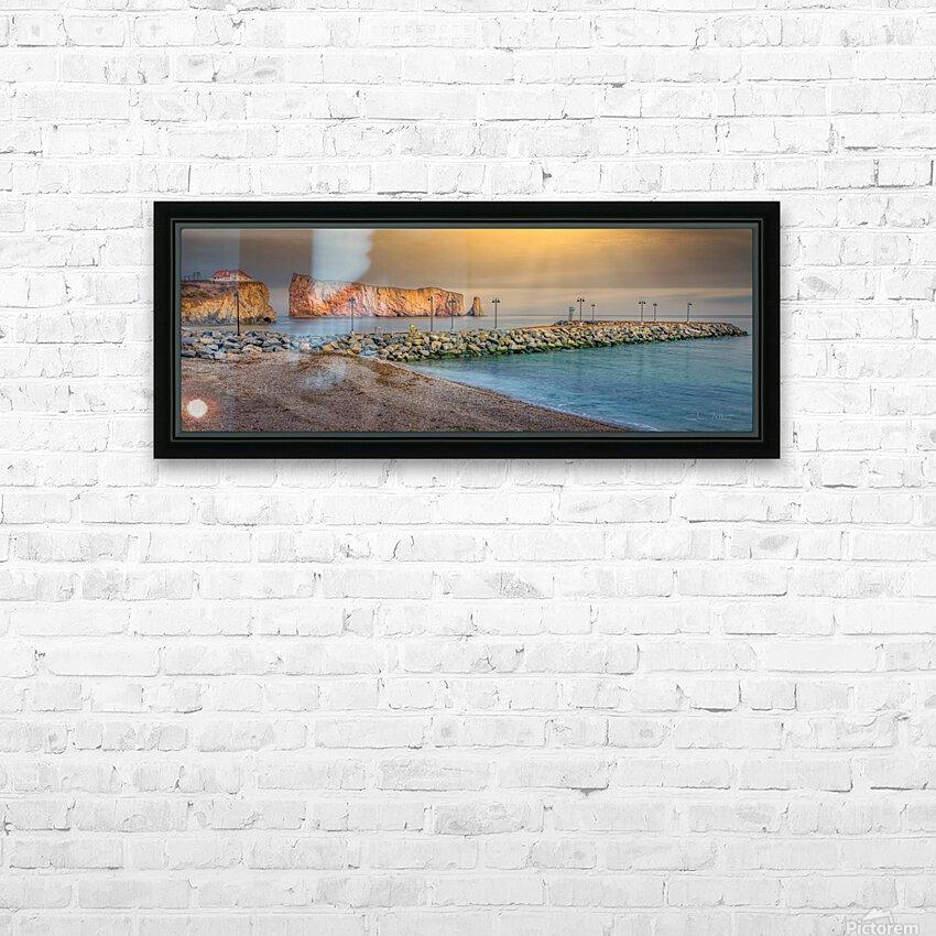 Rocher Perce et son Quai HD sublimation métal imprimé avec décoration flotteur cadre (boîte)