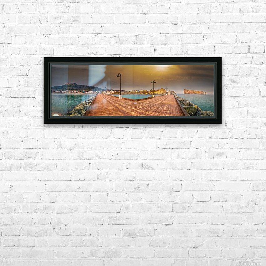 Panorama du quai de Perce HD sublimation métal imprimé avec décoration flotteur cadre (boîte)