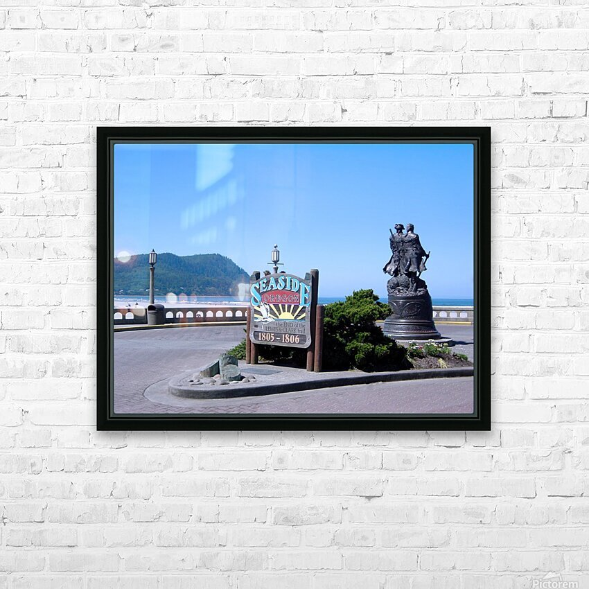 Seaside Oregon   Snapshot in Time HD Sublimation Metal print with Decorating Float Frame (BOX)