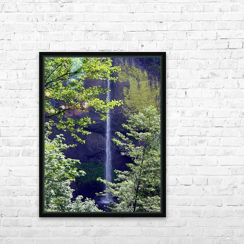 Secret Falls HD Sublimation Metal print with Decorating Float Frame (BOX)
