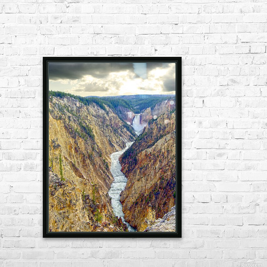 Mighty Yellowstone 5 HD Sublimation Metal print with Decorating Float Frame (BOX)