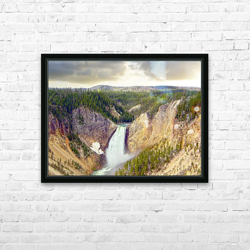 Mighty Yellowstone HD Sublimation Metal print with Decorating Float Frame (BOX)