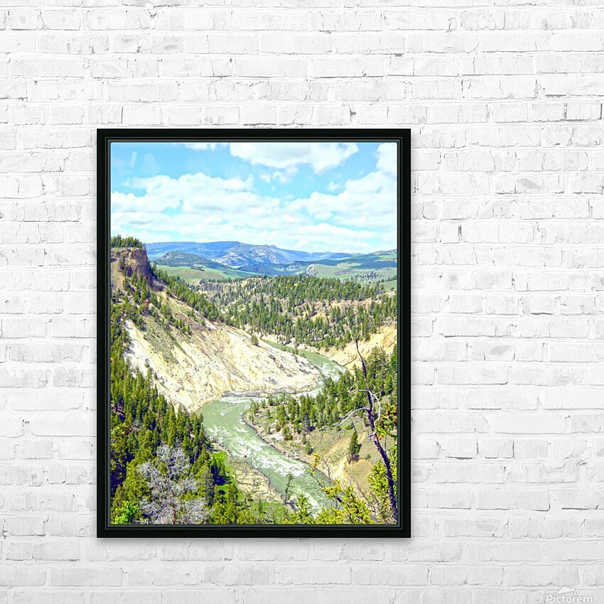 Wild Yellowstone HD Sublimation Metal print with Decorating Float Frame (BOX)