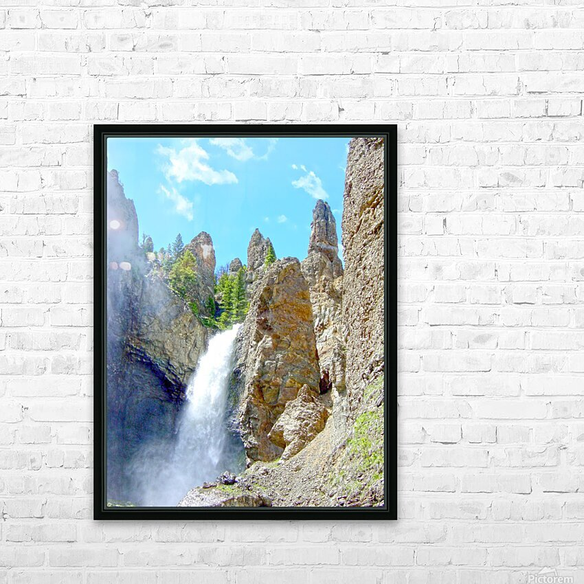 Yellowstone Waterfall - Grand Canyon of the Yellowstone River - Yellowstone National Park HD Sublimation Metal print with Decorating Float Frame (BOX)