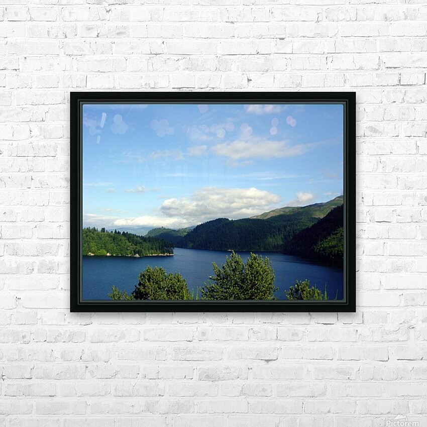 Pacific Northwest Splendor HD Sublimation Metal print with Decorating Float Frame (BOX)