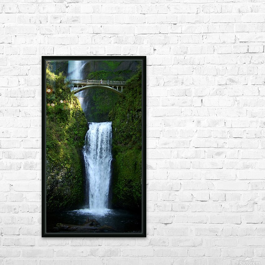 Multnomah Waterfalls Oregon HD Sublimation Metal print with Decorating Float Frame (BOX)