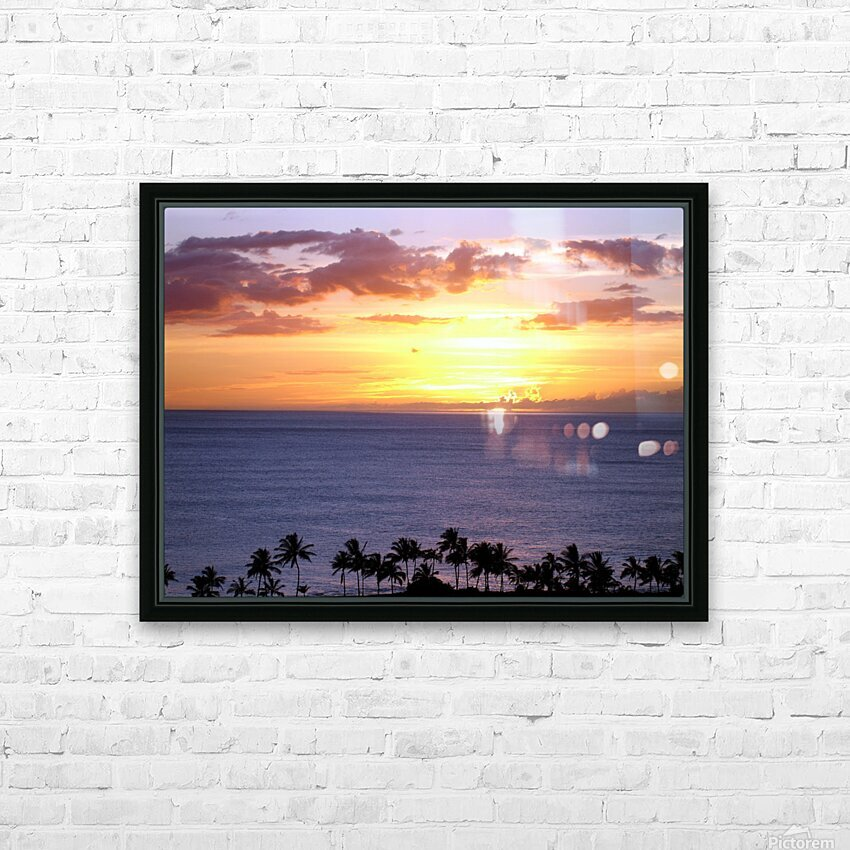 Golden Hawaii HD Sublimation Metal print with Decorating Float Frame (BOX)