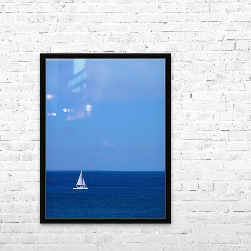 Blue Day HD Sublimation Metal print with Decorating Float Frame (BOX)