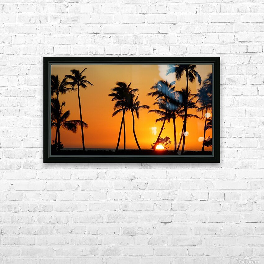 Golden HD Sublimation Metal print with Decorating Float Frame (BOX)