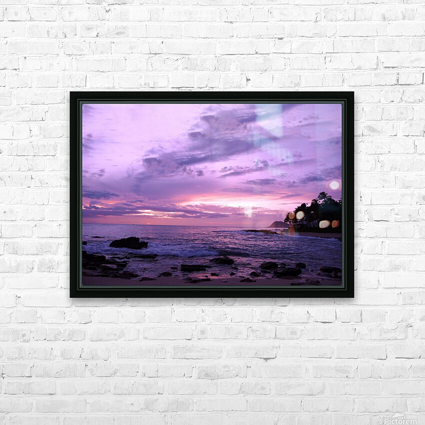 Purple Skies Over Hawaii HD Sublimation Metal print with Decorating Float Frame (BOX)