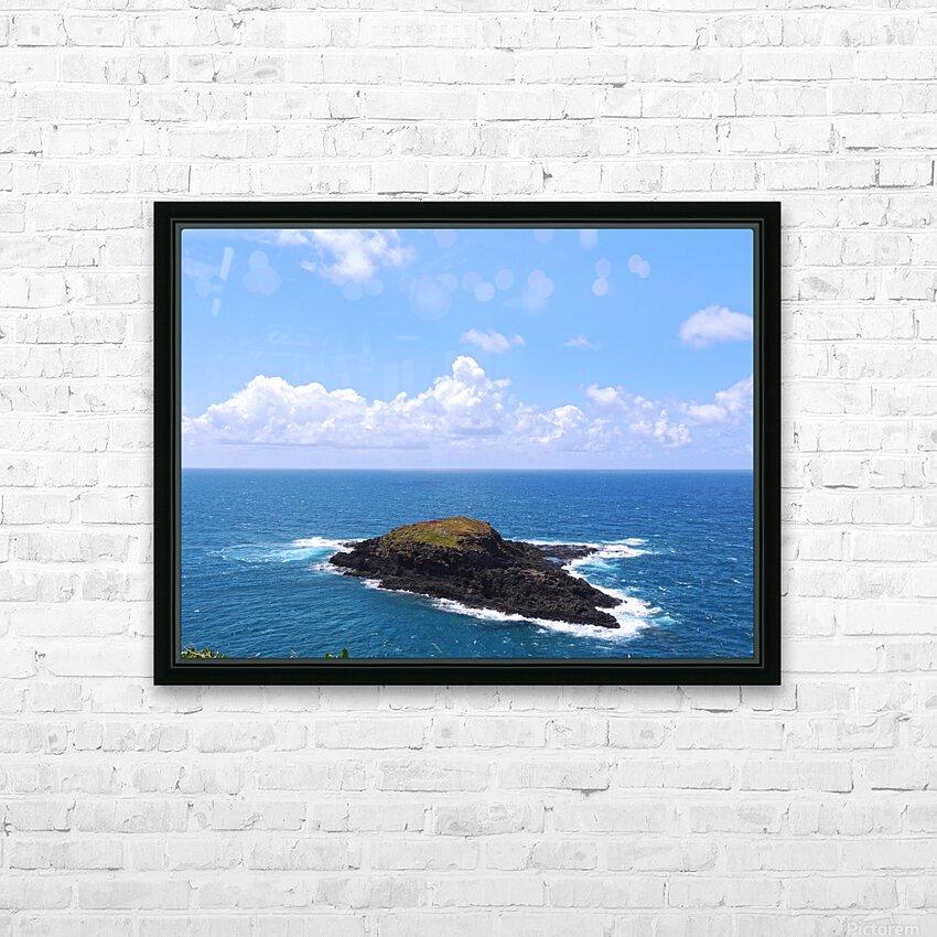 Secret Island HD Sublimation Metal print with Decorating Float Frame (BOX)