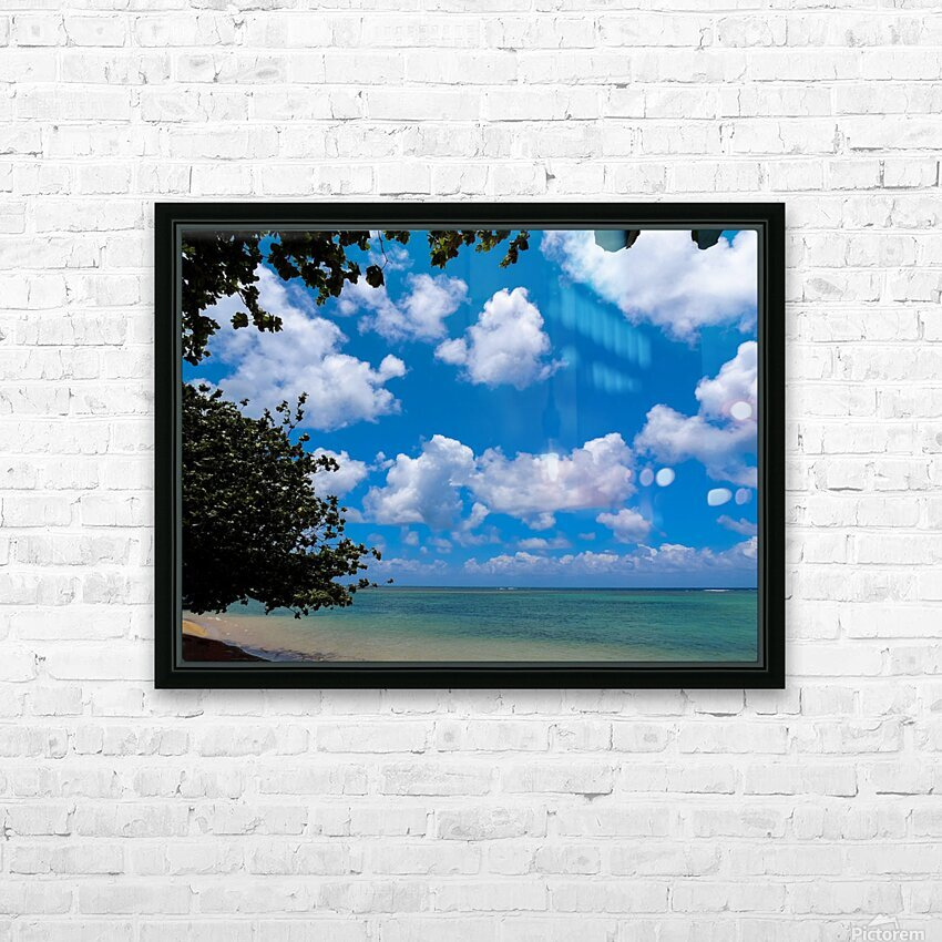Turquoise Waters & Blue Skies HD Sublimation Metal print with Decorating Float Frame (BOX)