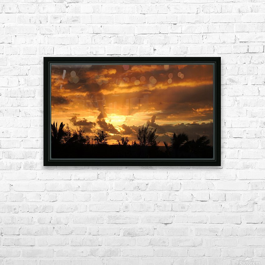 Golden Heavens HD Sublimation Metal print with Decorating Float Frame (BOX)
