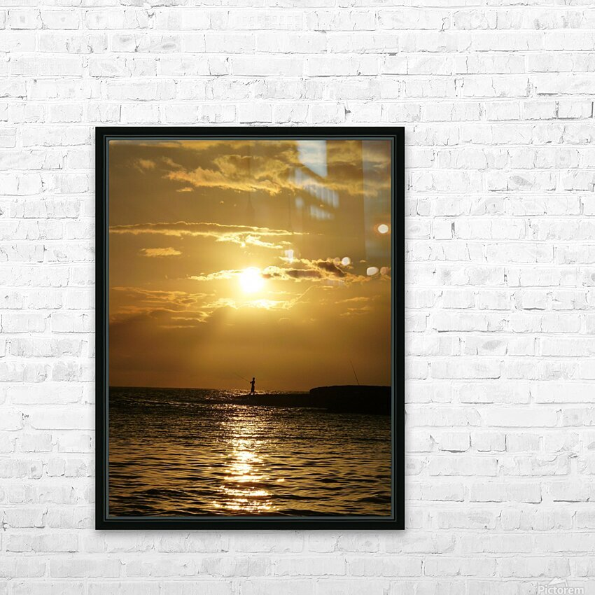 Gone Fishing HD Sublimation Metal print with Decorating Float Frame (BOX)