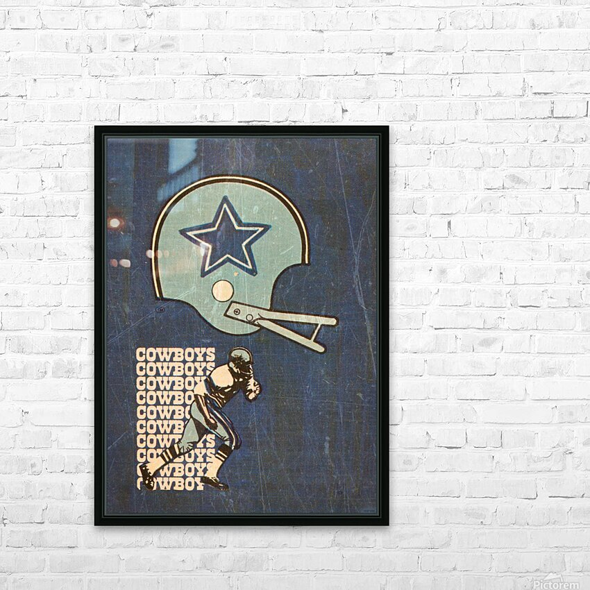 1976 Dallas Cowboys Wall Art HD Sublimation Metal print with Decorating Float Frame (BOX)