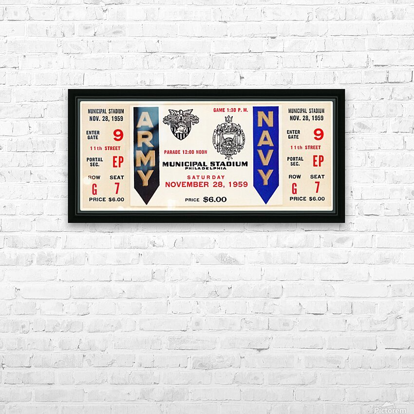 1959 Army Navy Game Ticket HD Sublimation Metal print with Decorating Float Frame (BOX)