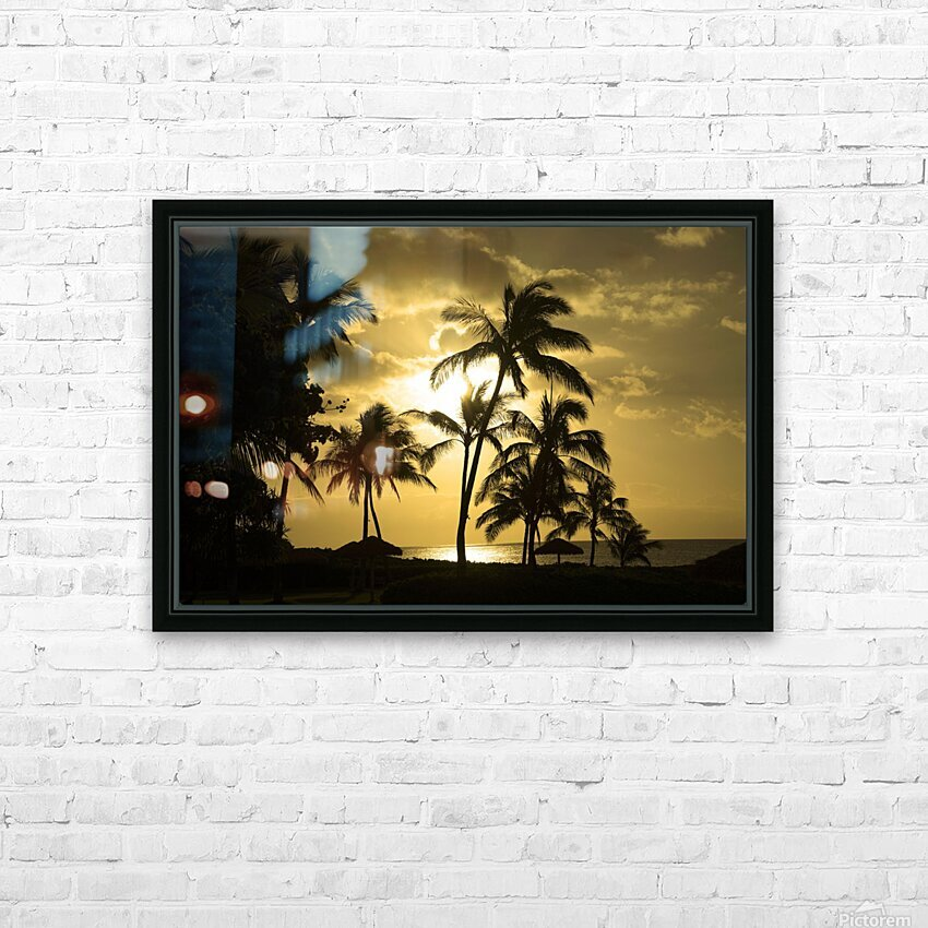 Paradise Dreams HD Sublimation Metal print with Decorating Float Frame (BOX)