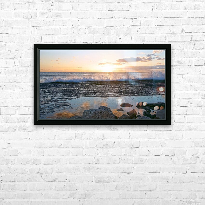 Reflections at the Sea Shore HD Sublimation Metal print with Decorating Float Frame (BOX)