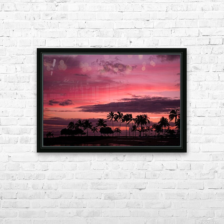 Ease into the Night HD Sublimation Metal print with Decorating Float Frame (BOX)