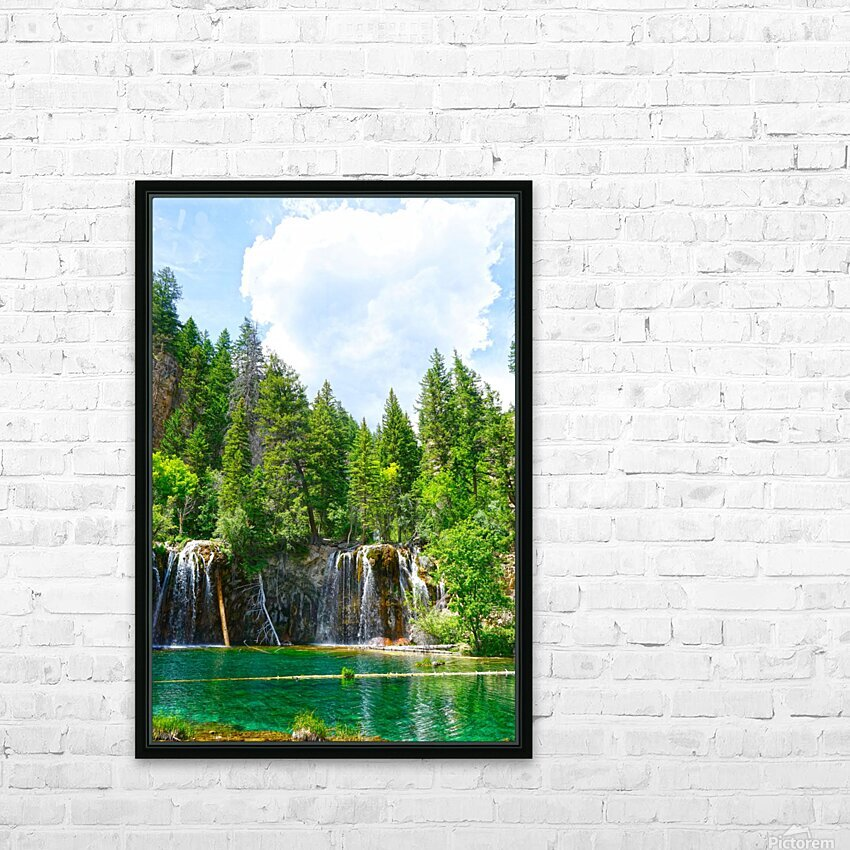 Back Country Waterfalls HD Sublimation Metal print with Decorating Float Frame (BOX)