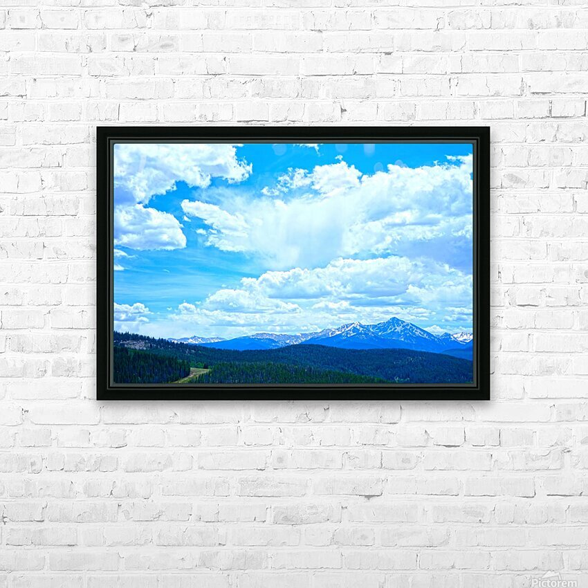 Painted Skies Over the Sawatch HD Sublimation Metal print with Decorating Float Frame (BOX)