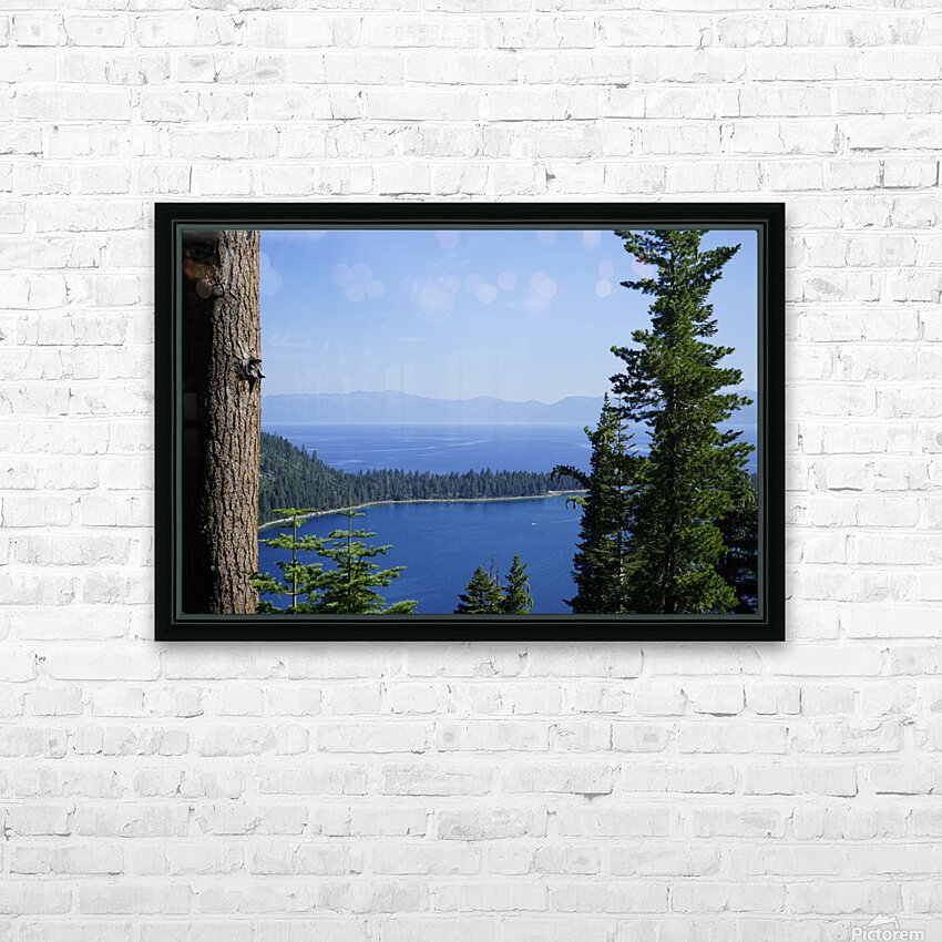Lake Tahoe HD Sublimation Metal print with Decorating Float Frame (BOX)