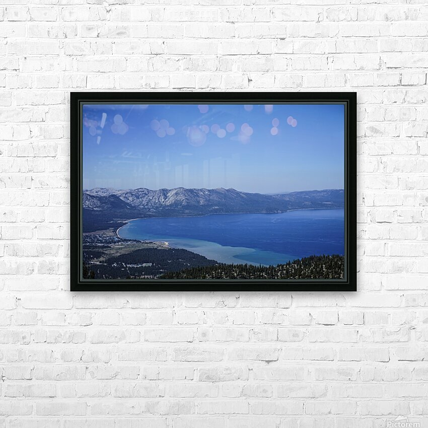 Lake Tahoe View HD Sublimation Metal print with Decorating Float Frame (BOX)