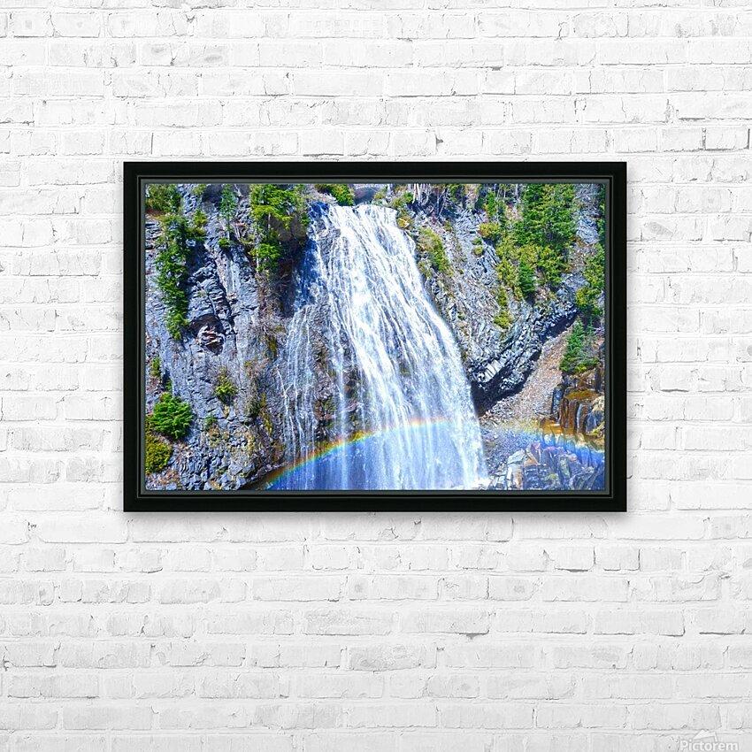 Rainbow Falls Rainier HD Sublimation Metal print with Decorating Float Frame (BOX)