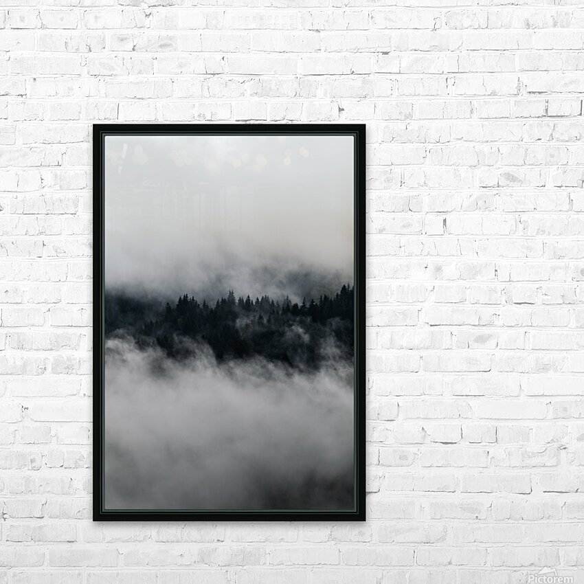 Layers of trees HD Sublimation Metal print with Decorating Float Frame (BOX)