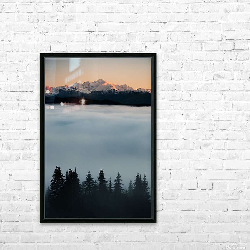 Mont Blanc and its sea of clouds HD Sublimation Metal print with Decorating Float Frame (BOX)
