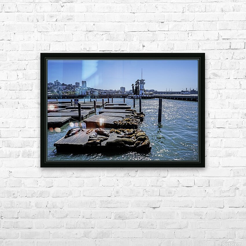 The Wharf @ San Francisco HD Sublimation Metal print with Decorating Float Frame (BOX)