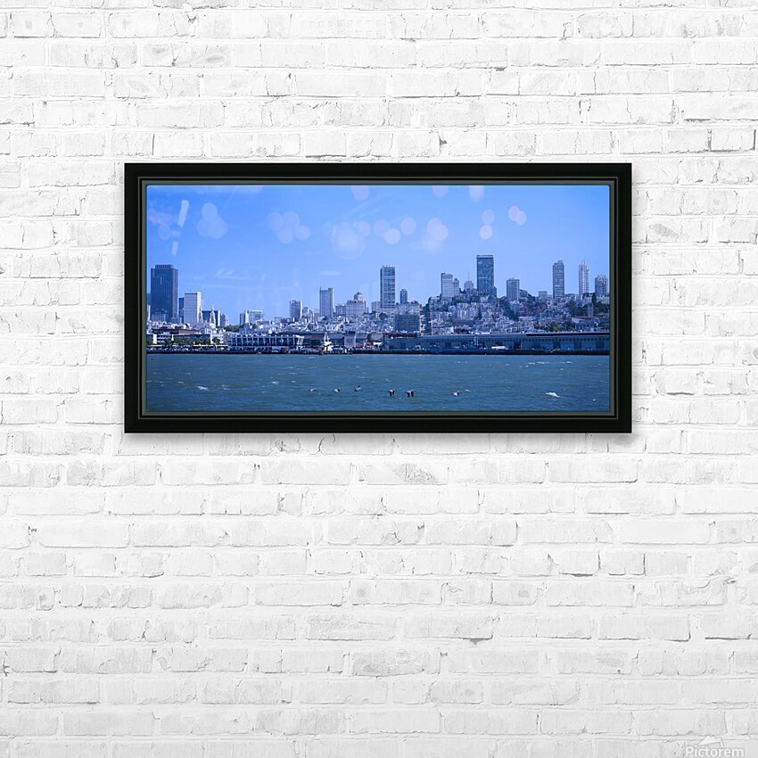 Blue Skies over San Francisco  HD Sublimation Metal print with Decorating Float Frame (BOX)