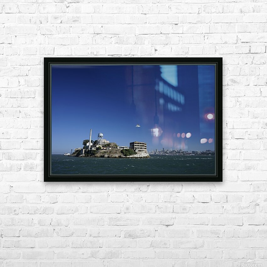 Alcatraz   The Rock @ San Francisco Bay HD Sublimation Metal print with Decorating Float Frame (BOX)