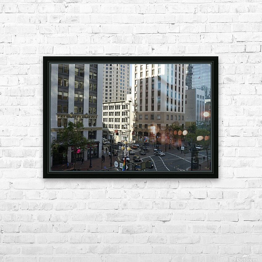 Snapshot in Time @ San Francisco Financial District HD Sublimation Metal print with Decorating Float Frame (BOX)