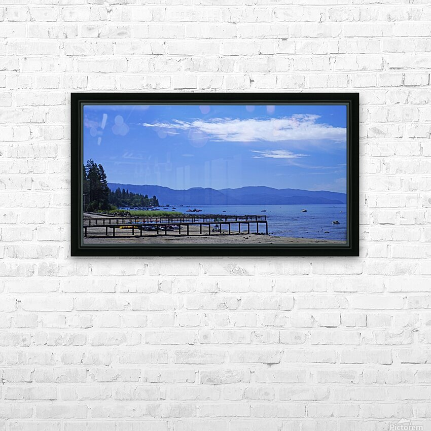 Spring at Lake Tahoe 1 of 7 HD Sublimation Metal print with Decorating Float Frame (BOX)