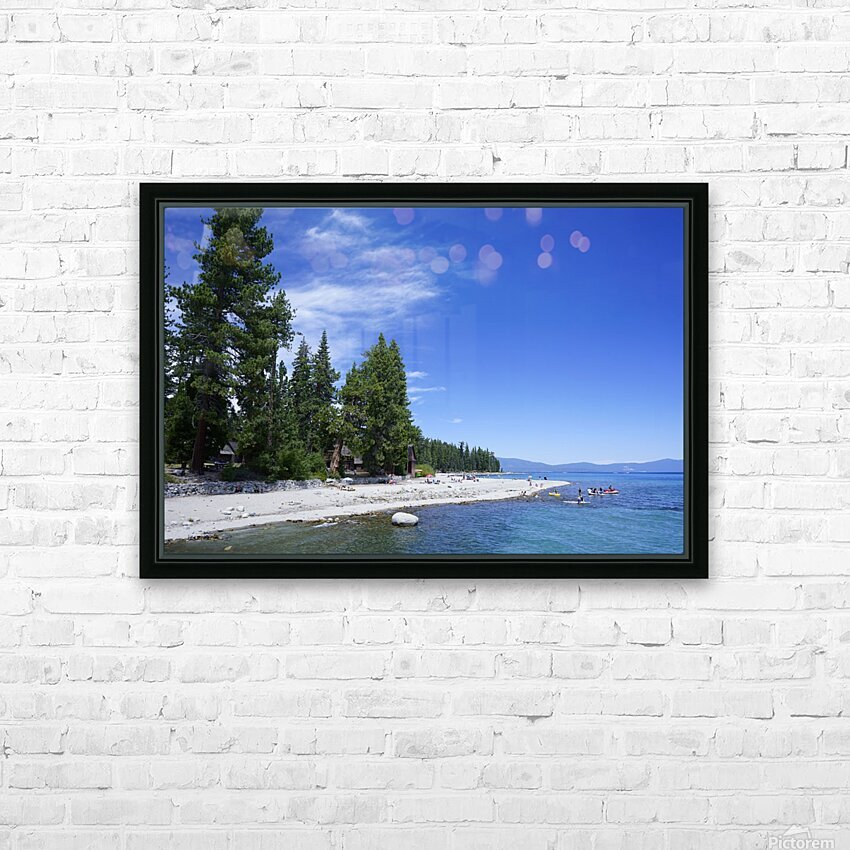 Spring at Lake Tahoe 2 of 7 HD Sublimation Metal print with Decorating Float Frame (BOX)