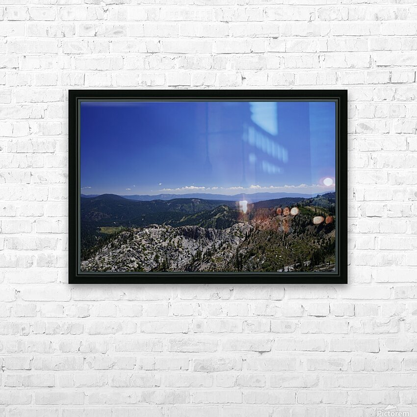 View from the Top @ Lake Tahoe HD Sublimation Metal print with Decorating Float Frame (BOX)