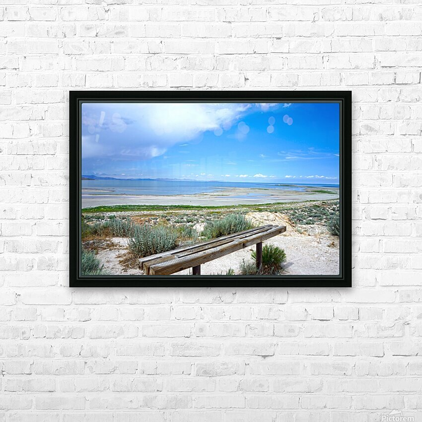 The Great Salt Lake 1 of 7 HD Sublimation Metal print with Decorating Float Frame (BOX)