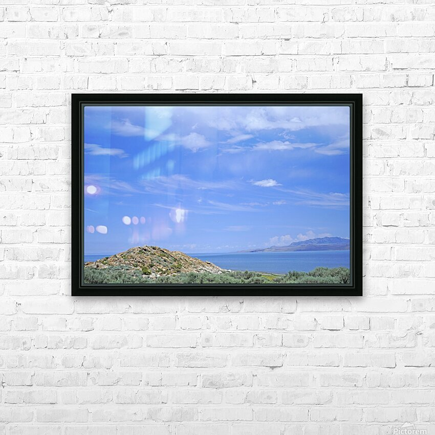 The Great Salt Lake 2 of 7 HD Sublimation Metal print with Decorating Float Frame (BOX)