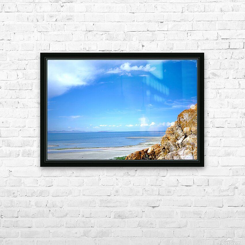 The Great Salt Lake 4 of 7 HD Sublimation Metal print with Decorating Float Frame (BOX)