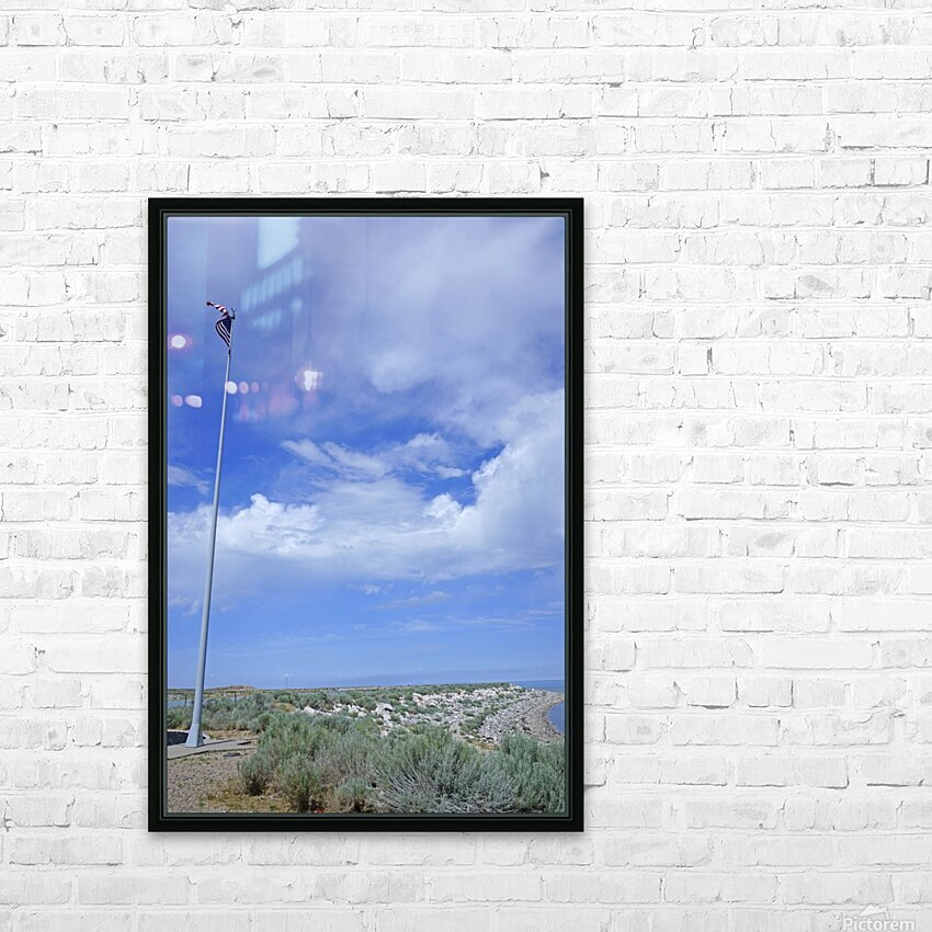 The Great Salt Lake 5 of 7 HD Sublimation Metal print with Decorating Float Frame (BOX)