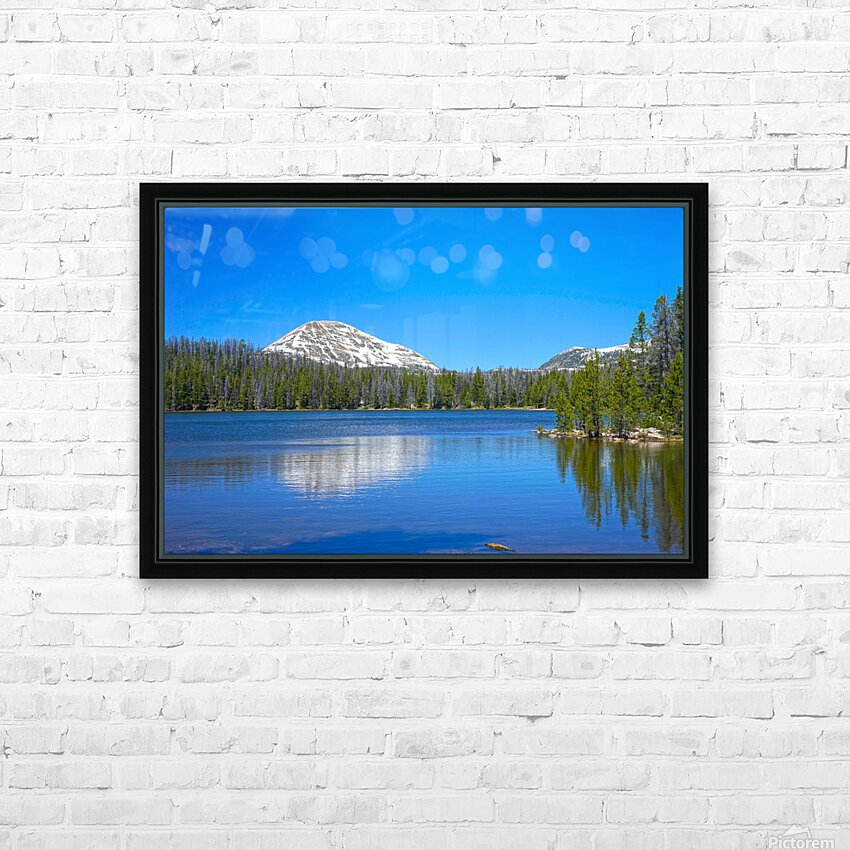 On The Road to Mirror Lake 5 of 5 HD Sublimation Metal print with Decorating Float Frame (BOX)