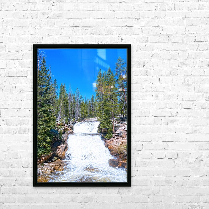 On The Road to Mirror Lake 1 of 5 HD Sublimation Metal print with Decorating Float Frame (BOX)