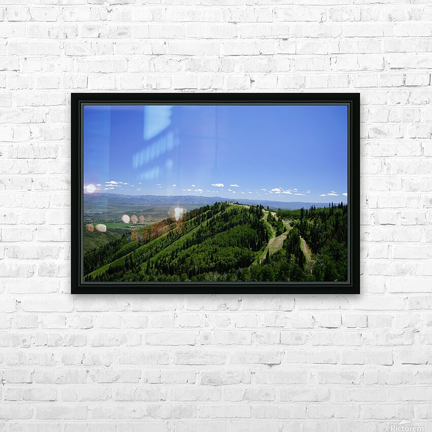 Hike Park City HD Sublimation Metal print with Decorating Float Frame (BOX)